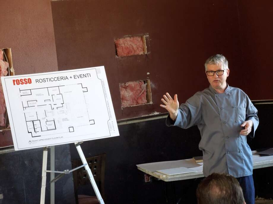 John Franchetti discusses plans for his new Rosticceria on Feb. 16, 2014 / Photos SF Chronicle