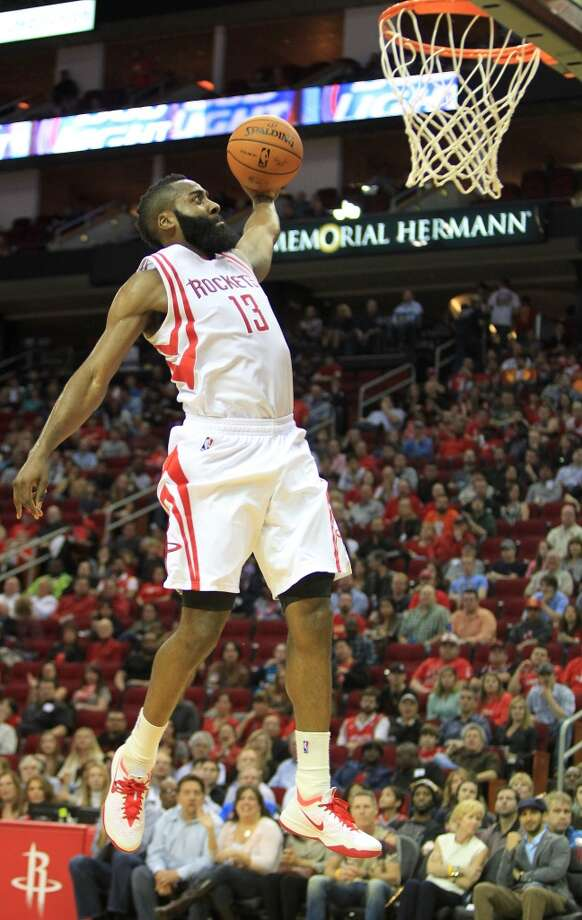 6. The Rockets cannot afford to do things the Spurs' way, with a priority on rest, but Rockets coach Kevin McHale wants to cut back on the playing time of James Harden and Chandler Parsons. No one covers more distance per game than Parsons. Only Carmelo Anthony plays more minutes per game than Harden. If they are to handle the post-season grind, they might need to lessen the regular-season load first. Photo: Mayra Beltran, Houston Chronicle