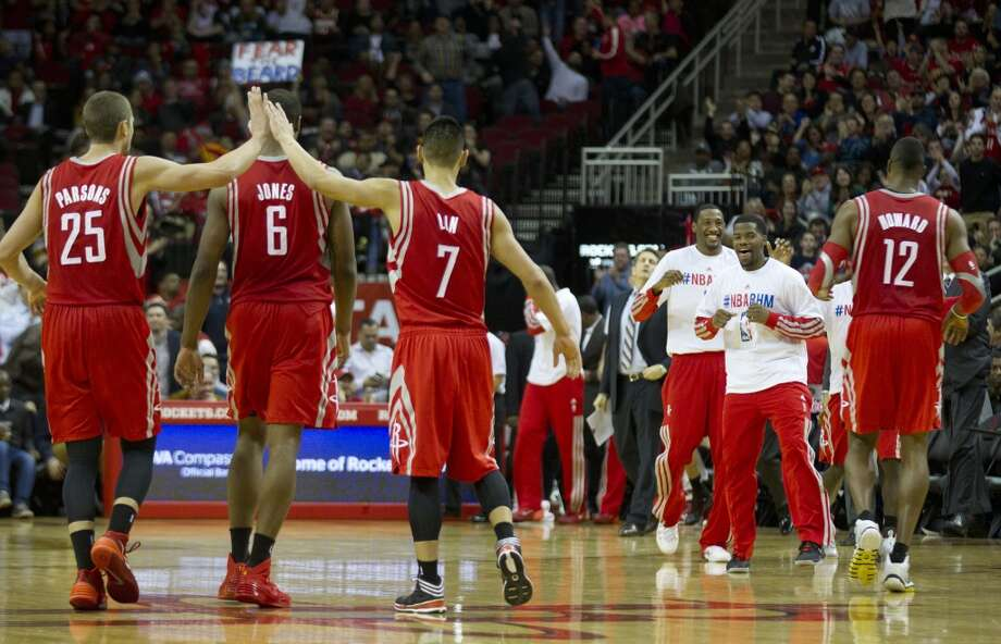 9. Currently third in the Western Conference standings, the Rockets have a chance to reach their goal of home-court advantage in the first round. It will surely be tight, with the potential for teams to go from third to sixth based on a game or two. With just one playoff series win in 16 years, the Rockets are desperate to advance this season. Home-court advantage could be crucial. Photo: Brett Coomer, Houston Chronicle