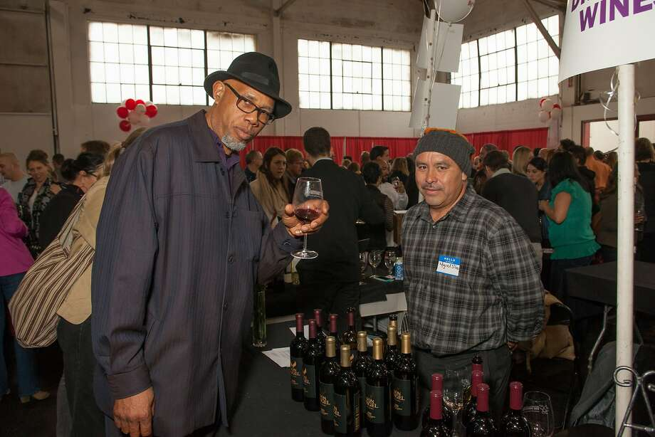 William Hammons and Miguel Silva (of Don Angel Winery)  at the San Francisco Chronicle Wine Competition Public Tasting on Feb. 15, 2014, at Fort Mason in San Francisco. Photo: Dan Dion- Special To The Chronic, Special To The Chronicle