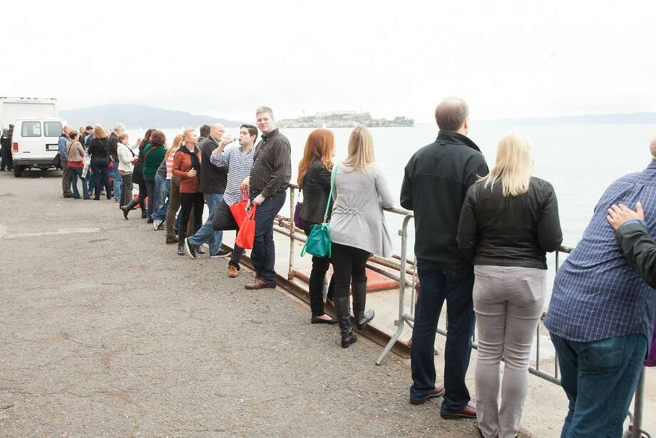 Outside Fort Mason at the San Francisco Chronicle Wine Competition Public Tasting on Feb. 15, 2014, at Fort Mason in San Francisco. Photo: Dan Dion- Special To The Chronic, Special To The Chronicle