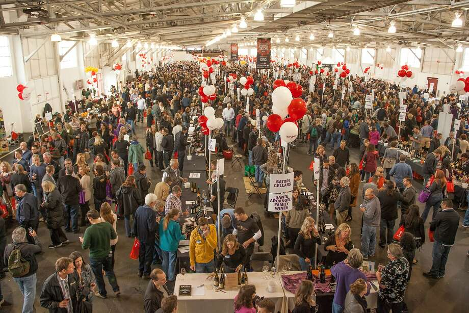 Crowds at the San Francisco Chronicle Wine Competition Public Tasting on Feb. 15, 2014, at Fort Mason in San Francisco. Photo: Dan Dion- Special To The Chronic, Special To The Chronicle