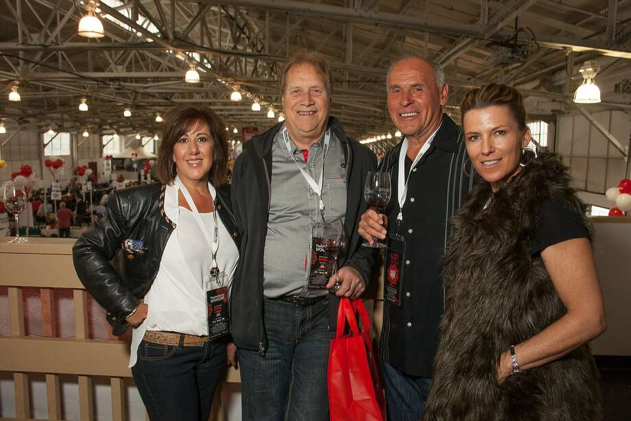 VIPs Charles and Vivienne Alter and Ed and Ginny Barnett at the San Francisco Chronicle Wine Competition Public Tasting on Feb. 15, 2014, at Fort Mason in San Francisco. Photo: Dan Dion- Special To The Chronic, Special To The Chronicle