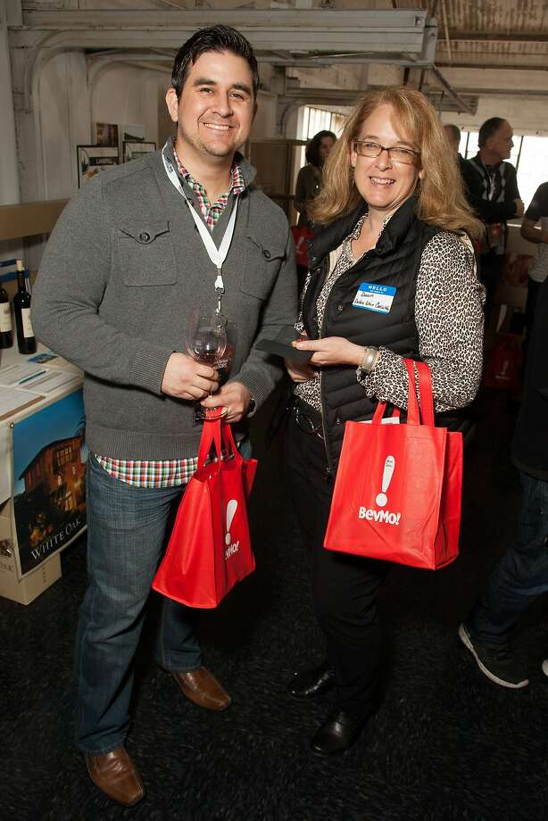 Adam Wallace and Dawn Dolan, VIPs at the San Francisco Chronicle Wine Competition Public Tasting on Feb. 15, 2014, at Fort Mason in San Francisco. Photo: Dan Dion- Special To The Chronic, Special To The Chronicle