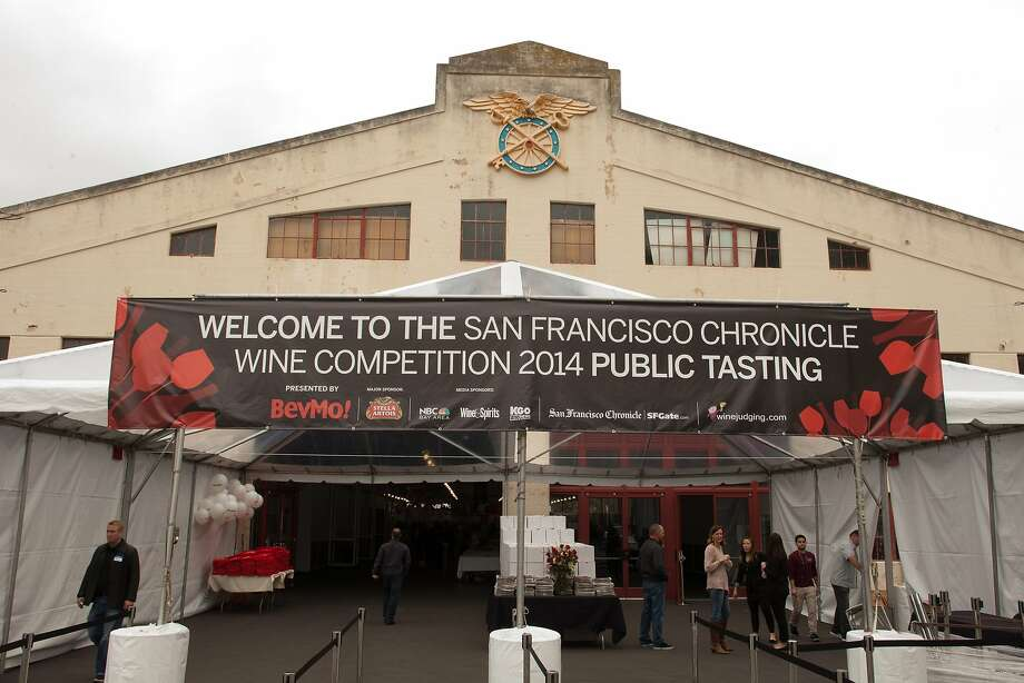 The entrance to Fort Mason at the San Francisco Chronicle Wine Competition Public Tasting on Feb. 15, 2014 in San Francisco. Photo: Dan Dion- Special To The Chronic, Special To The Chronicle