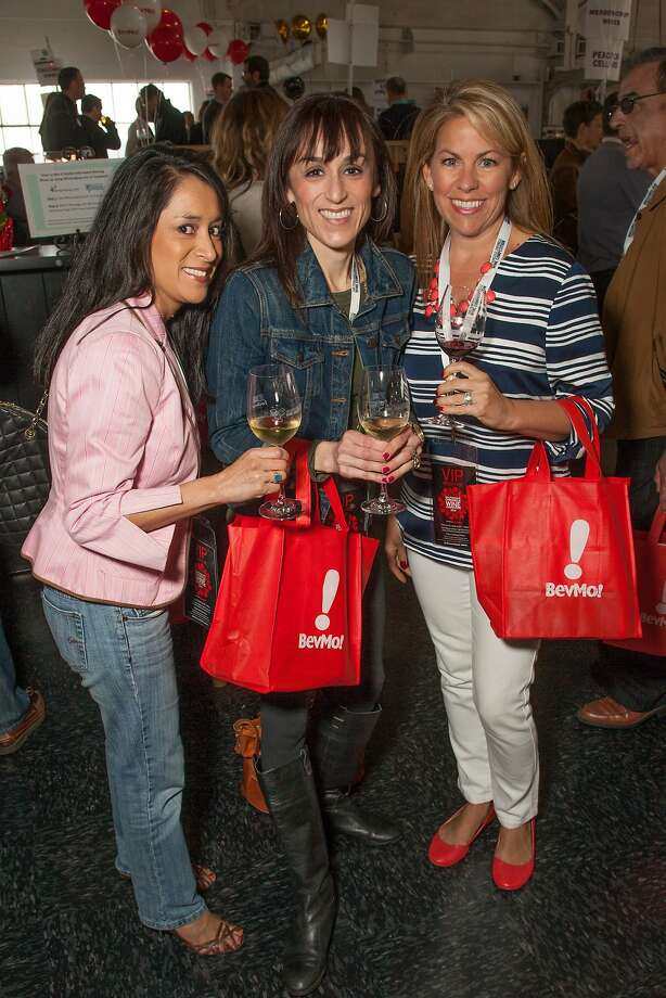 VIPs Angelina Roman, Kathy Flores and Tiffany Reimer at the San Francisco Chronicle Wine Competition Public Tasting on Feb. 15, 2014, at Fort Mason in San Francisco. Photo: Dan Dion- Special To The Chronic, Special To The Chronicle