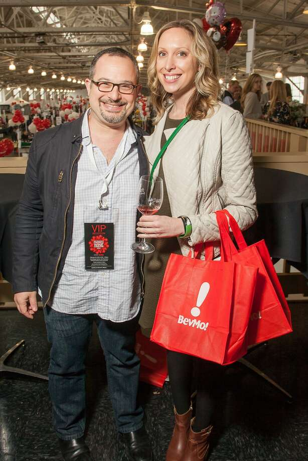 Chronicle Wine Editor Jon Bonné and VIP Valerie Masten at the San Francisco Chronicle Wine Competition Public Tasting on Feb. 15, 2014, at Fort Mason in San Francisco. Photo: Dan Dion- Special To The Chronic, Special To The Chronicle