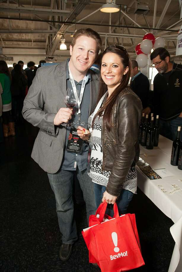 Nick and Meghan Bello, VIPs at the San Francisco Chronicle Wine Competition Public Tasting on Feb. 15, 2014, at Fort Mason in San Francisco. Photo: Dan Dion- Special To The Chronic, Special To The Chronicle
