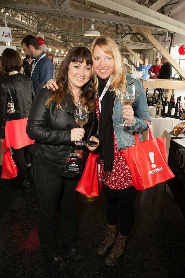 Erin Skidmore, VP of Marketing at SF Chronicle, and Heidi Noble, VIP, at the San Francisco Chronicle Wine Competition Public Tasting on Feb. 15, 2014, at Fort Mason in San Francisco. Photo: Dan Dion- Special To The Chronic, Special To The Chronicle