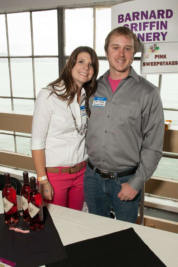 Enologist Megan Hughes and husband Shane Huges of Barnard Griffin Winery, winner of the pink sweepstakes,  at the San Francisco Chronicle Wine Competition Public Tasting on Feb. 15, 2014, at Fort Mason in San Francisco. Photo: Dan Dion- Special To The Chronic, Special To The Chronicle