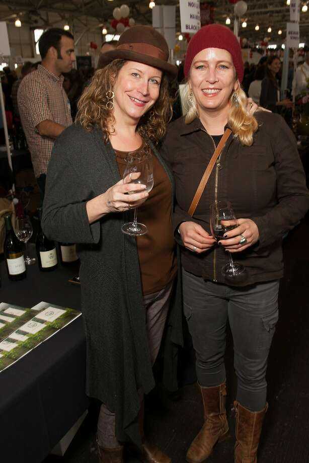 Chronicle contributor Lisa Crovo-Dion and Megan Stewart  at the San Francisco Chronicle Wine Competition Public Tasting on Feb. 15, 2014, at Fort Mason in San Francisco. Photo: Dan Dion- Special To The Chronic, Special To The Chronicle