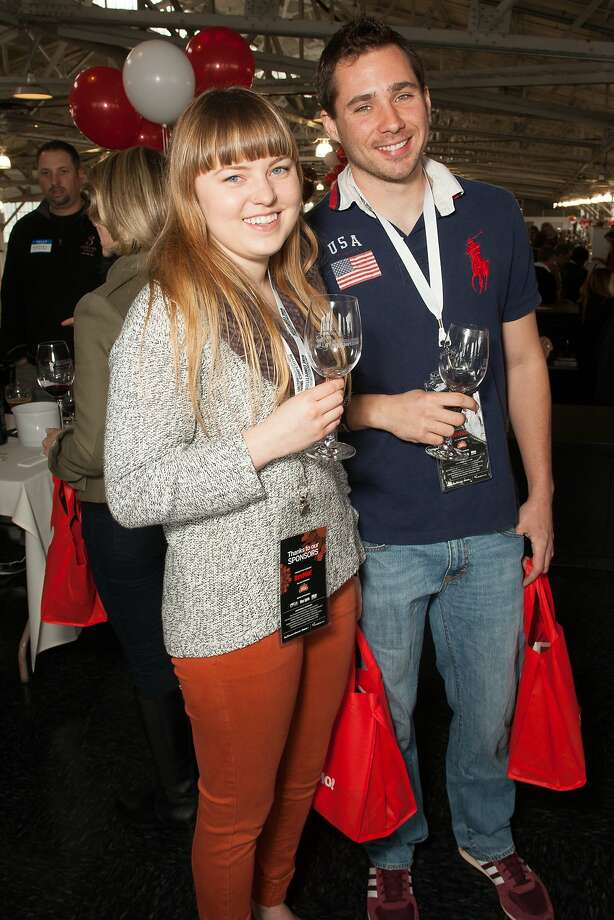 VIPs Kirsten Mandt and Matthew Bernardi at the San Francisco Chronicle Wine Competition Public Tasting on Feb. 15, 2014, at Fort Mason in San Francisco. Photo: Dan Dion- Special To The Chronic, Special To The Chronicle