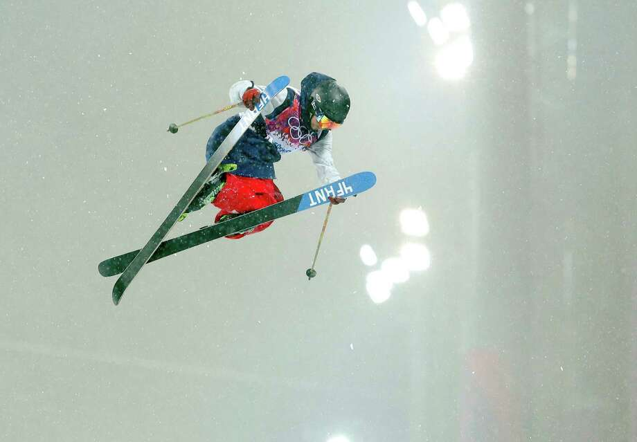 David Wise of the United States gets air during the men's ski halfpipe final at the Rosa Khutor Extreme Park, at the 2014 Winter Olympics, Tuesday, Feb. 18, 2014, in Krasnaya Polyana, Russia. Photo: Sergei Grits, AP / AP