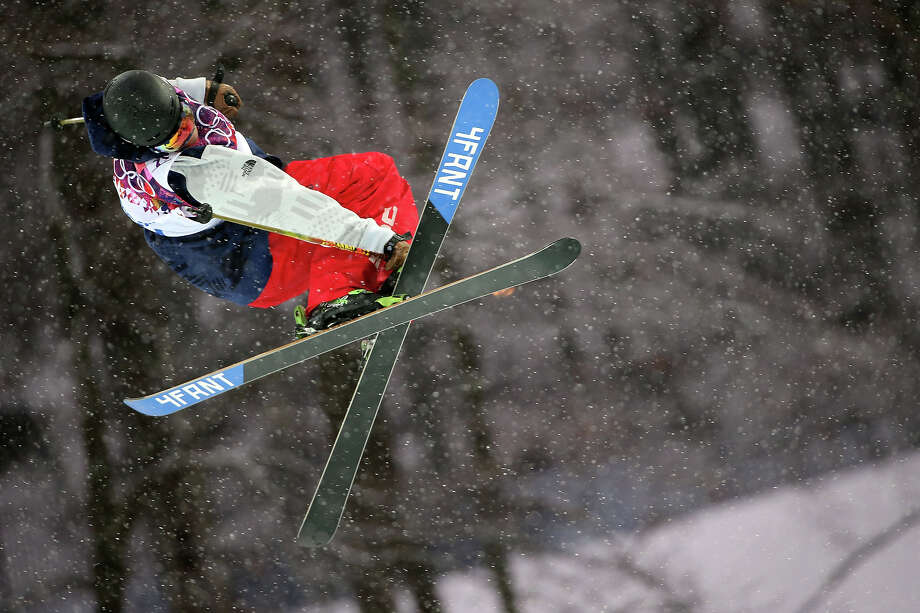 David Wise of the USA competes during the Freestyle Skiing Men's Halfpipe at the Rosa Khutor Extreme Park on February 18, 2014 in Sochi, Russia. Photo: Christophe Pallot/Agence Zoom, Getty Images / 2014 Getty Images