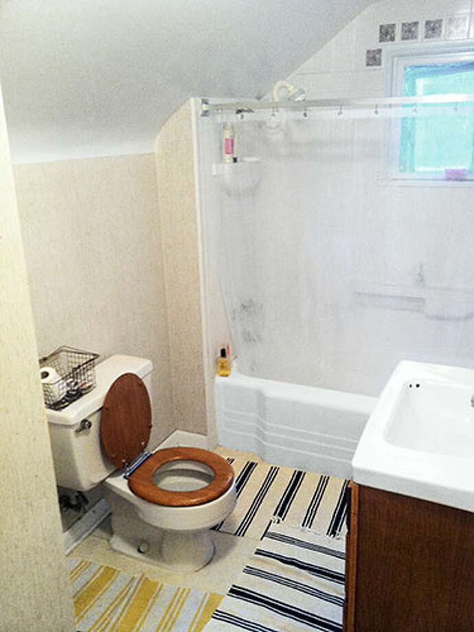 Before: Cramped and BoringThis basic bath lacked personality and space!   Read: Get your house ready for spring