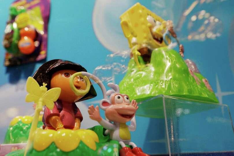A Dora The Explorer And A Spongebob Squarepants Motorized