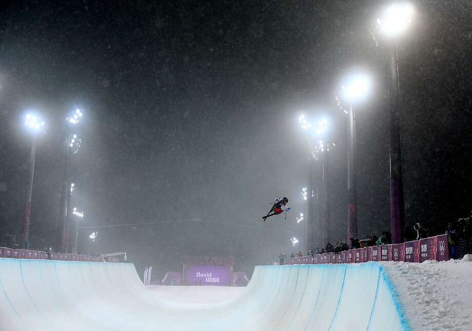 David Wise of the United States competes in the Freestyle Skiing Men's Ski Halfpipe Finals on day eleven of the 2014 2014 Winter Olympics at Rosa Khutor Extreme Park on February 18, 2014 in Sochi, Russia. Photo: Cameron Spencer, Getty Images