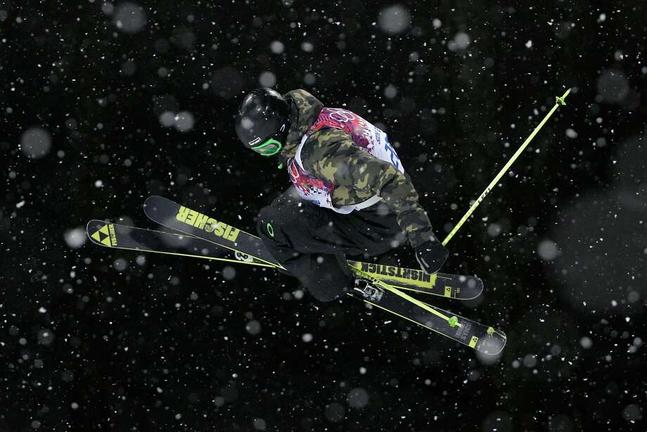 David Wise of the United States competes in the Freestyle Skiing Men's Ski Halfpipe Qualification on day eleven of the 2014 2014 Winter Olympics at Rosa Khutor Extreme Park on February 18, 2014 in Sochi, Russia.
