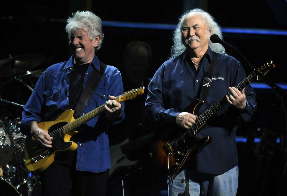 David Crosby (right), seen here performing with Graham Nash, had been scheduled to perform Thursday and Friday at the Great American Music Hall. Photo: Henny Ray Abrams, Associated Press