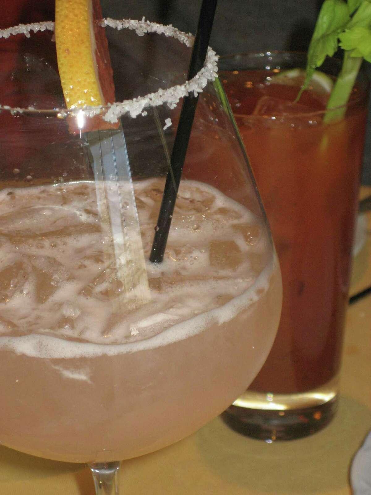 Fresh grapefruit margarita featured at RDG & Bar Annie