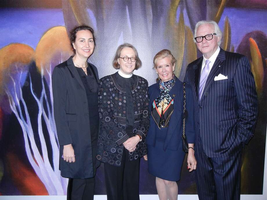 Sarah Ogilvie (left) and partner Jane Shaw, Grace Cathedral's dean, with Lucinda Watson and beau Ted Bell. Photo: Catherine Bigelow, Special To The Chronicle