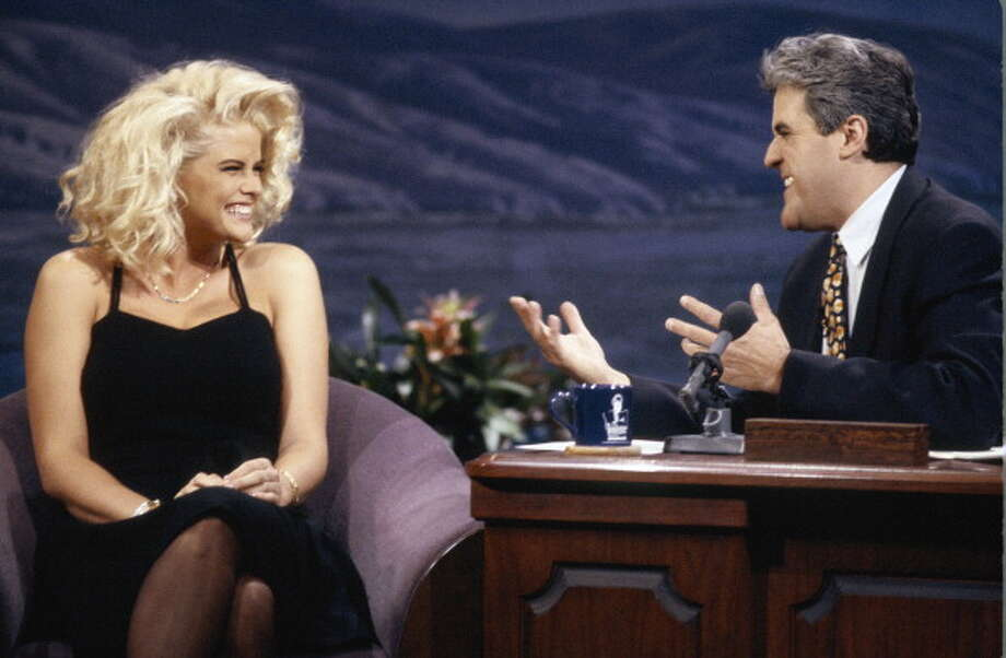 Model Anna Nicole Smith visited the show with host Jay Leno on Nov. 30, 1992. Photo: NBC, NBC Via Getty Images / 2012 NBCUniversal, Inc.