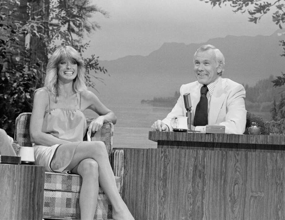 Farrah Fawcett visited the show when it was hosted by Johnny Carson on Aug. 11, 1978. Photo: NBC, NBC Via Getty Images / 2012 NBCUniversal, Inc.