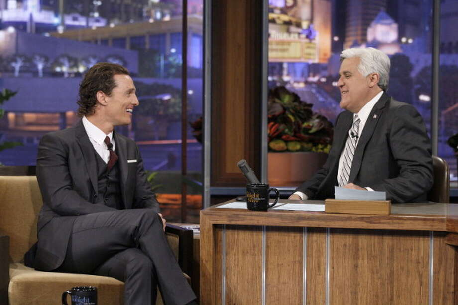 Matthew McConaughey returns to the show March 16, 2011 for an interview with host Jay Leno. Photo: NBC, NBC Via Getty Images / 2012 NBCUniversal, Inc.