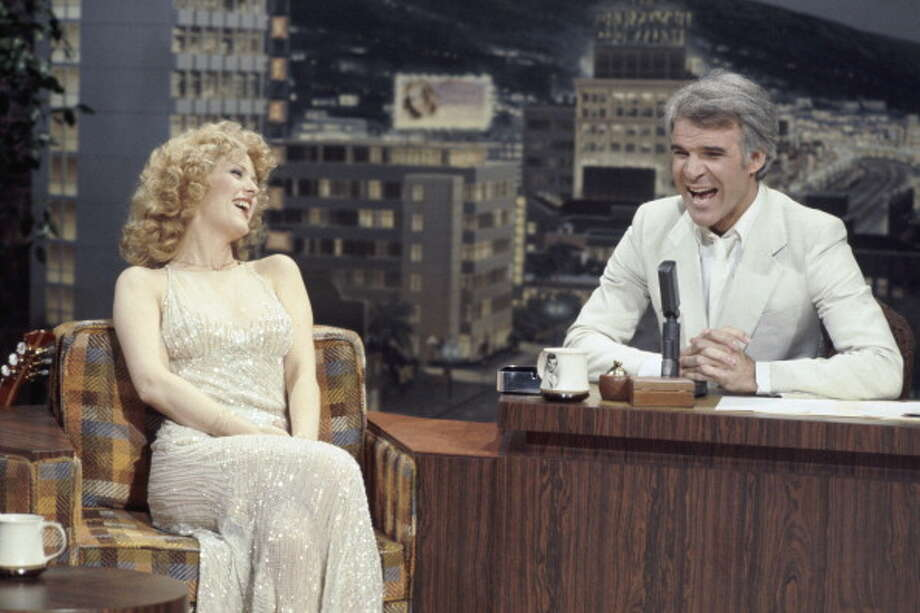Bernadette Peters visits with guest host Steve Martin on Oct. 18, 1977. Photo: NBC, NBC Via Getty Images / 2012 NBCUniversal, Inc.