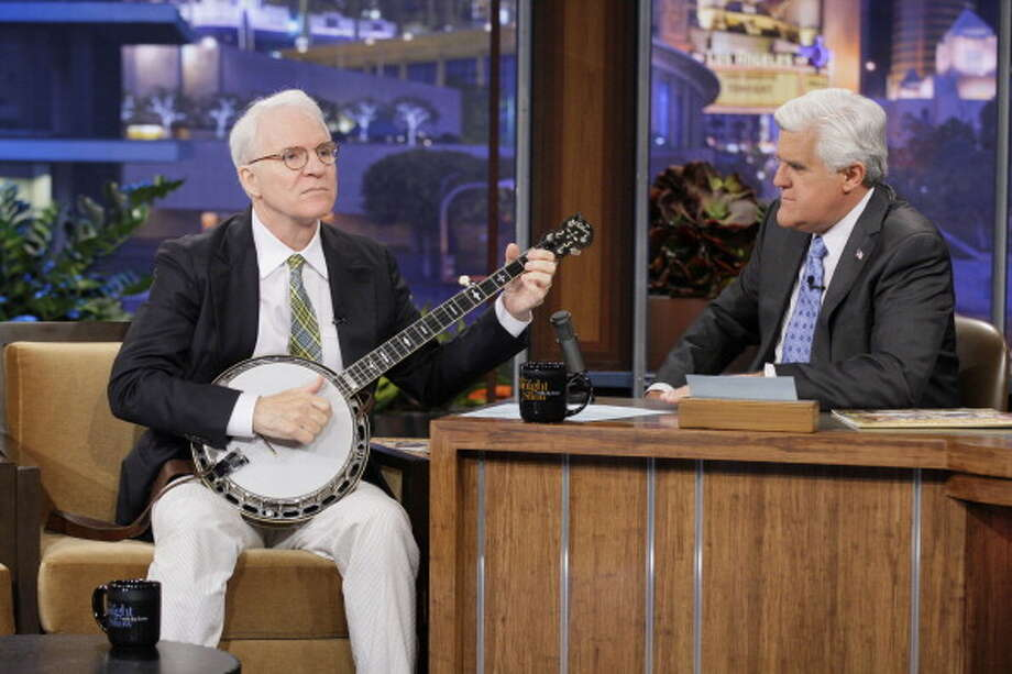 Steve Martin returned to the show to interview with host Jay Leno on April 30, 2012. Photo: NBC, NBCU Photo Bank Via Getty Images / 2012 NBCUniversal Media, LLC
