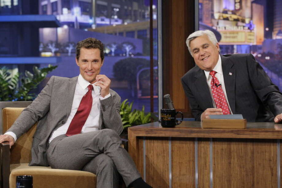 Matthew McConaughey returned for another interview with host Jay Leno on June 19, 2012. Photo: NBC, NBCU Photo Bank Via Getty Images / 2012 NBCUniversal Media, LLC