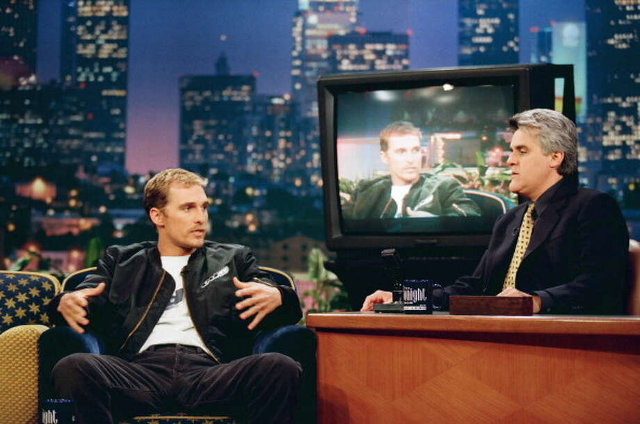 Matthew McConaughey made his first appearance on the show with host Jay Leno on July 9, 1998. Photo: NBC, NBCU Photo Bank Via Getty Images / 2012 NBCUniversal Media, LLC
