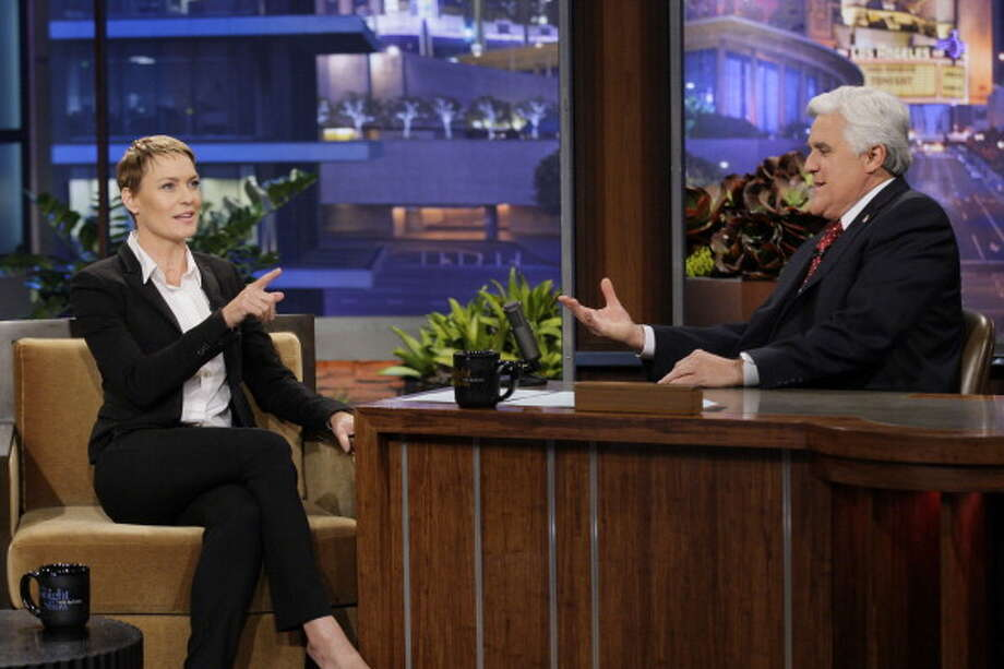 Robin Wright interviewed with host Jay Leno on Feb. 19, 2013. Photo: NBC, NBCU Photo Bank Via Getty Images / 2013 NBCUniversal Media, LLC
