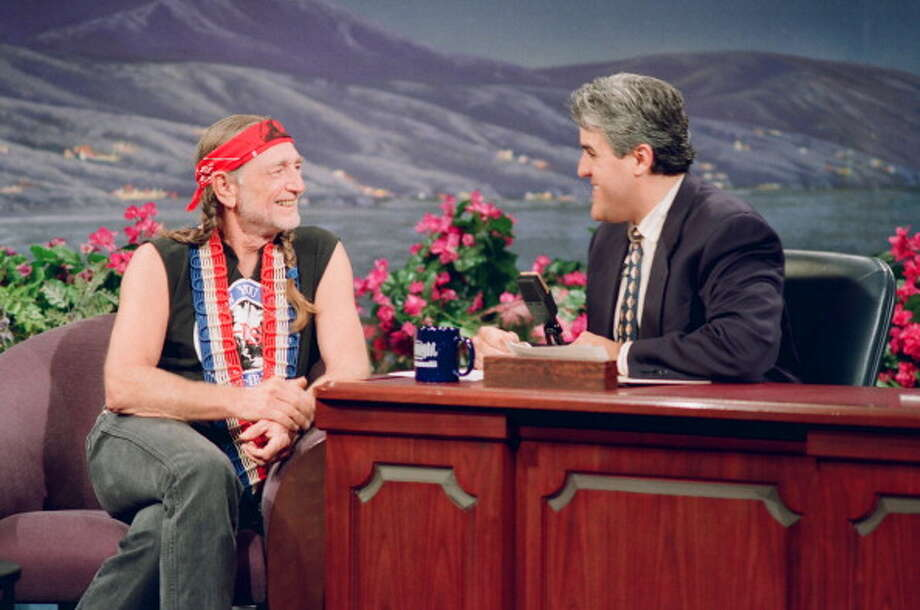 Willie Nelson interviewed with host Jay Leno on June 25, 1993. Photo: NBC, NBCU Photo Bank Via Getty Images / 2013 NBCUniversal Media, LLC