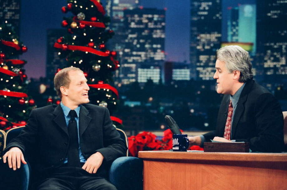 Woody Harrelson stopped by for an interview with Jay Leno on December 16, 1998. Photo: NBC, NBCU Photo Bank Via Getty Images / 2013 NBCUniversal Media, LLC
