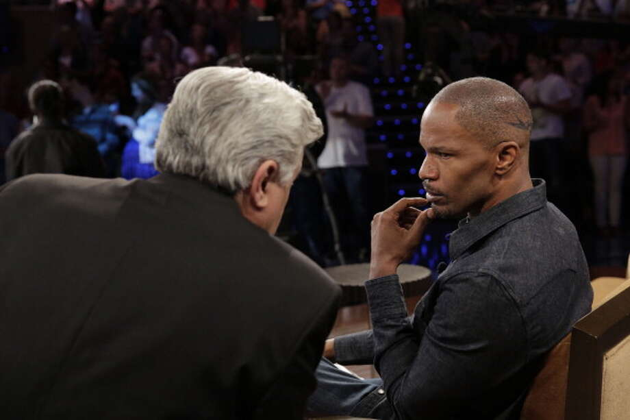 Jay Leno welcomed Jamie Foxx to the show June 11, 2013. Photo: NBC, NBCU Photo Bank Via Getty Images / 2013 NBCUniversal Media, LLC