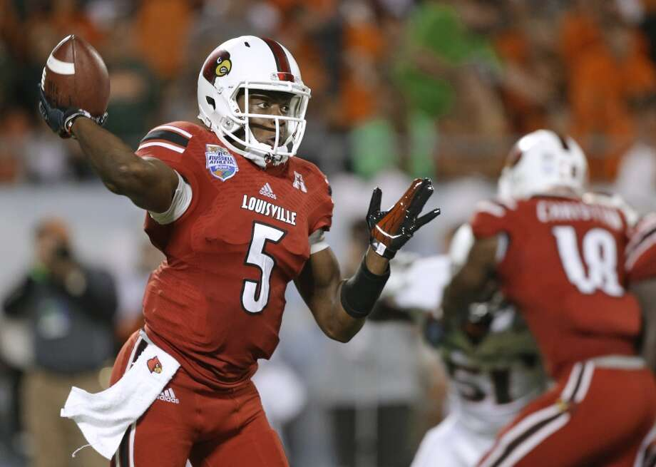 Teddy Bridgewater Quarterback, Louisville  Bridgewater's stock has slightly fallen, despite not playing a game since the college season ended. A strong showing at the combine could again put him at the top of most mock drafts. Photo: John Raoux, Associated Press