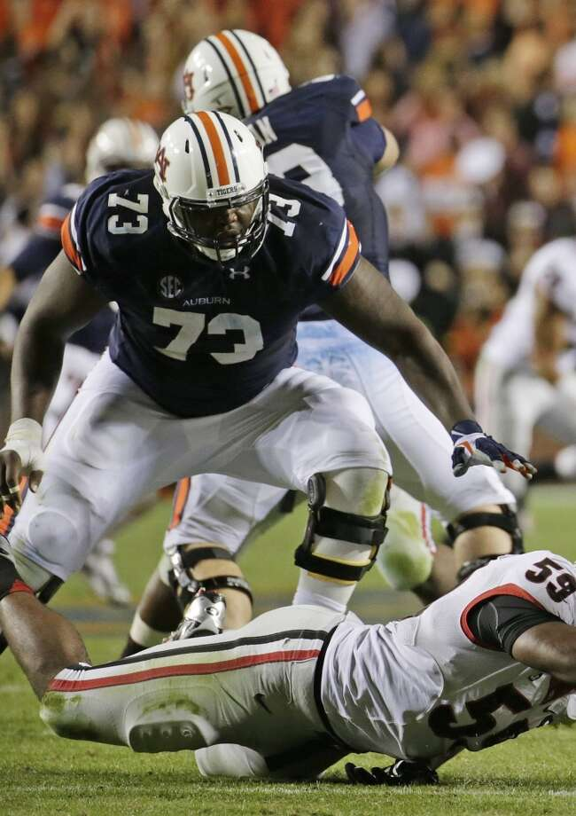 Greg Robinson Offensive tackle, Auburn  A close second to Matthews, Robinson has remained in the top 10 of mock drafts and may have more long-term potential than Matthews. Photo: Dave Martin, Associated Press