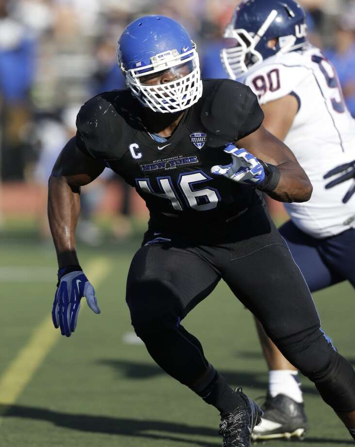 Khalil Mack Linebacker, Buffalo  Despite not attending a big school, Mack is vying with UCLA's Anthony Barr to be the first linebacker selected. Photo: Mike Groll, Associated Press