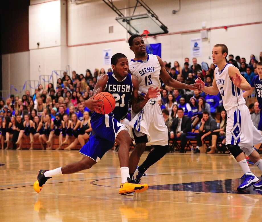 De'End Parker is averaging 17.2 points per game for Cal State San Marcos, at 27-1 the top-ranked school in the NAIA. Photo: Bruce Sherwood, Cal State San Marcos