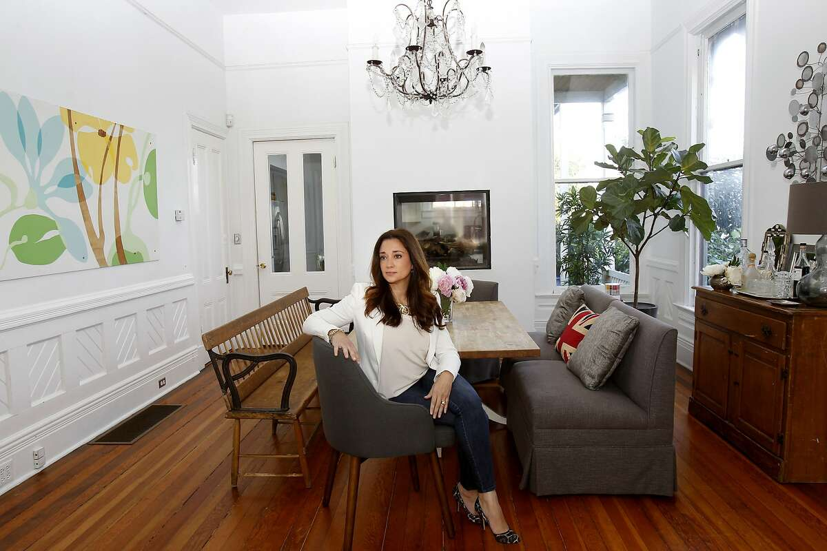 Interior designer Soledad Alzaga stands in two of her favorite rooms at her San Francisco, Calif. home Thursday February 13, 2014.