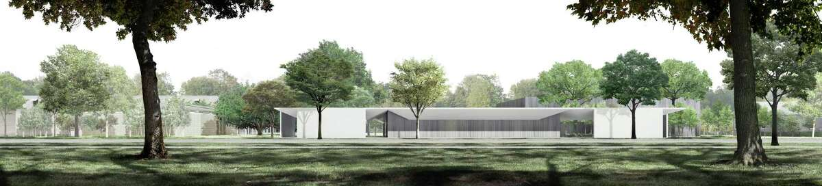 A view of the Menil Drawing Institute from the south, by the Los Angeles architectural firm Johnston Marklee