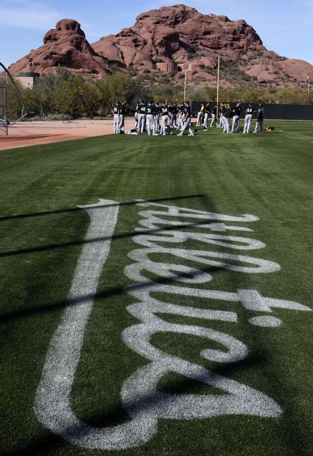 A'splayers prepare for morning workouts at the Papago Baseball Facility in Phoenix, Arizona on Tuesday Feb. 18,  2014. Major League Baseball's  Oakland Athletics continue their spring training in the Arizona Desert  to prepare for the upcoming season. Photo: The Chronicle