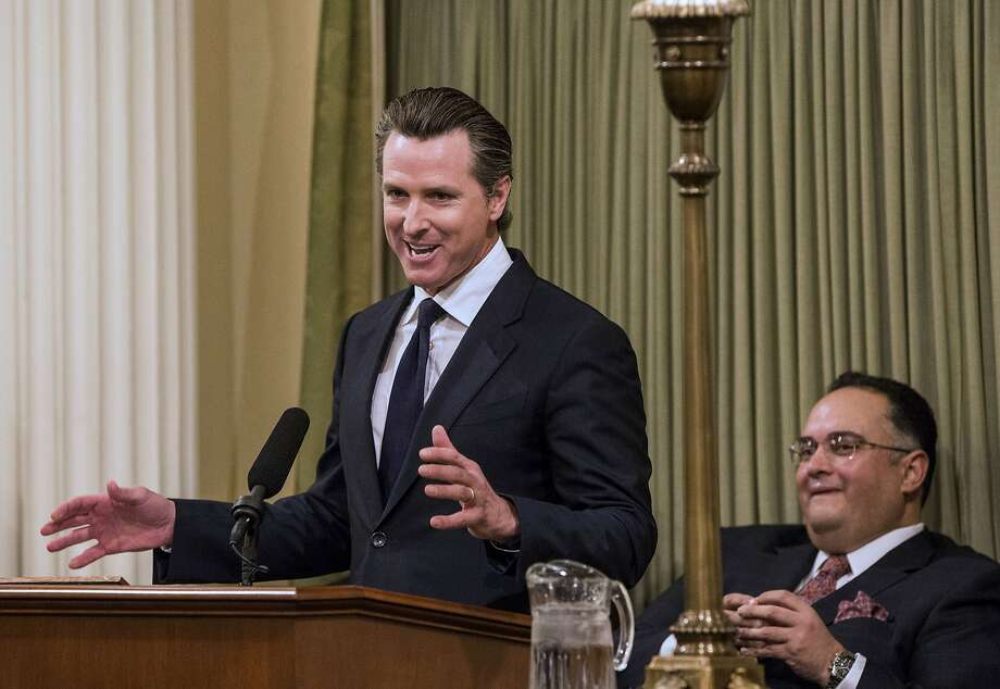 Lt. Gov. Gavin Newsom is the state's highest-ranking Democrat to pull his support for the project. Photo: Ken James, Bloomberg