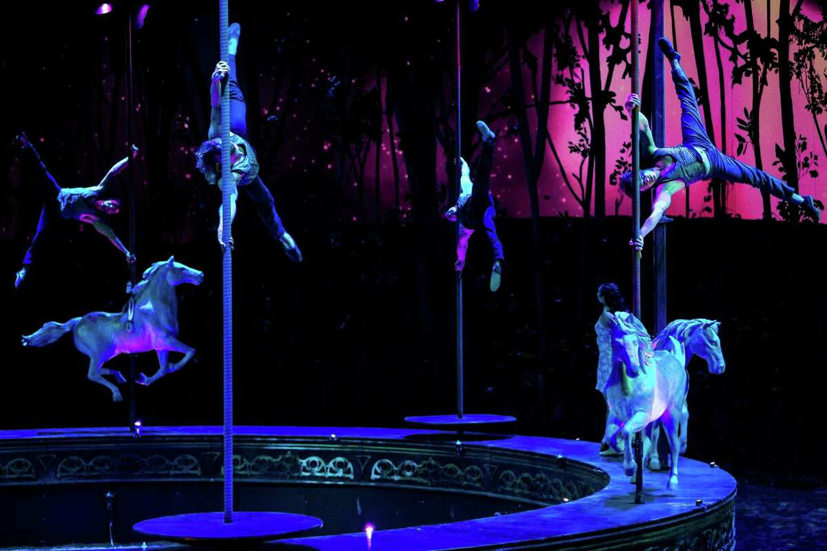 In a marriage of equestrian arts and theatrical effects, the 30-million dollar extravaganza of Cavalia's Odysseo took Marymoor Park by storm with a production featuring 63 horses and 47 artists Tuesday, Feb. 18, 2014, in Redmond. The show opens to to public and runs from Feb. 19 to March 9.