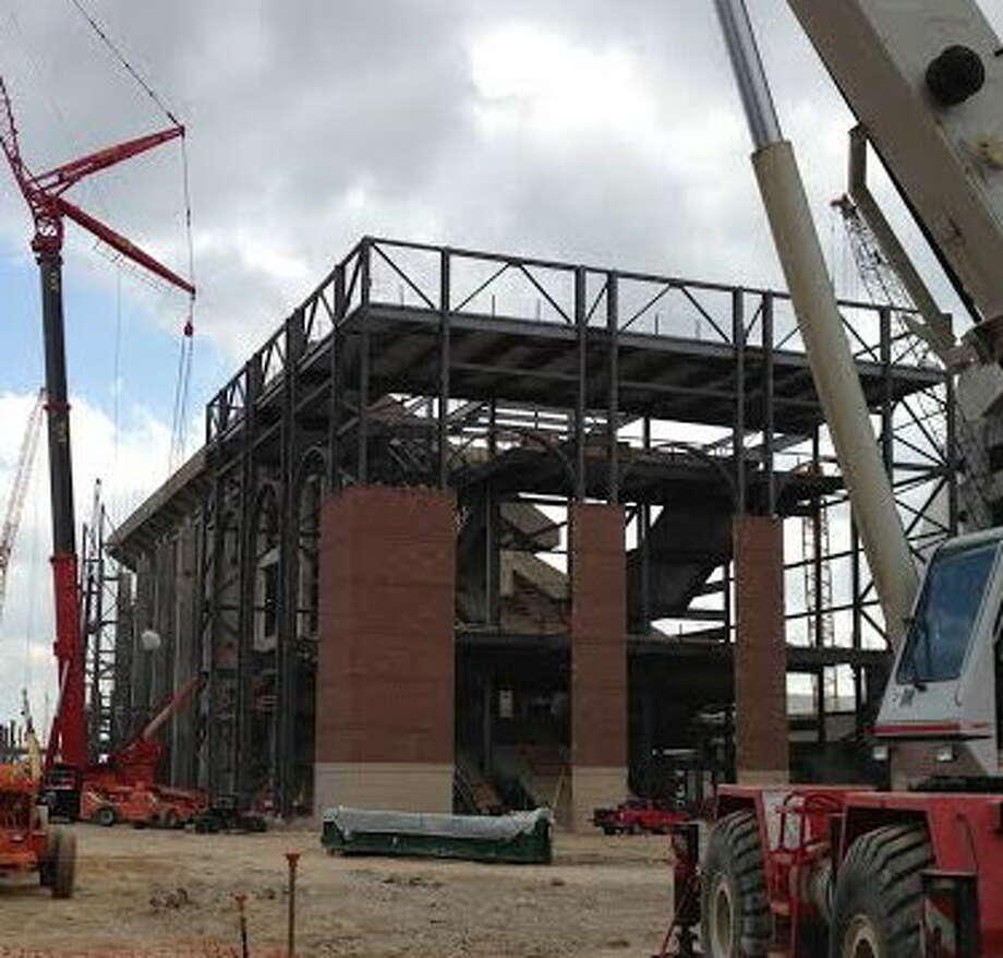 Photos of the renovation work at Kyle Field, Feb. 18, 2014. Photo: Brent Zwerneman, San Antonio Express-News