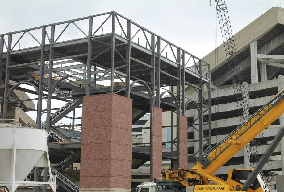The red brick that will be prominent on Kyle Field's new facade is already visible on the northeast corner. The shade is similar to that on Blue Bell Park, A&M's 2-year-old baseball stadium.