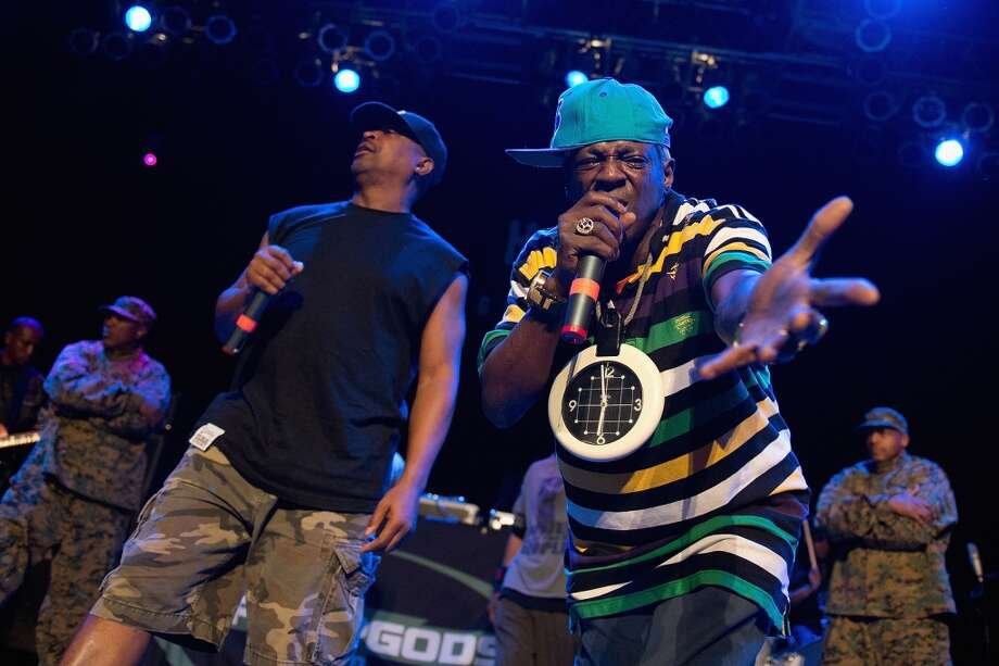Flavor Flav: Strangely, Public Enemy relied on the one member with terrible eyesight to keep track of time. Photo: Daniel Boczarski, Redferns Via Getty Images