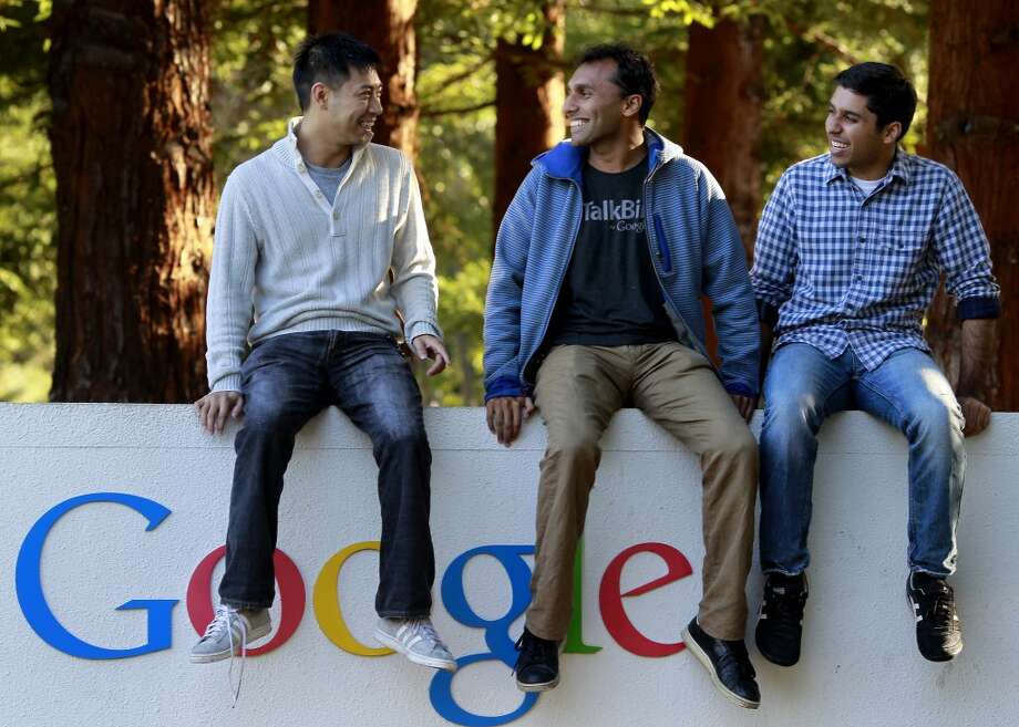 """""""Do you know someone who works at Google/Twitter/Facebook?""""Actually, yes. Yes, we do. Photo: Brant Ward, The Chronicle"""