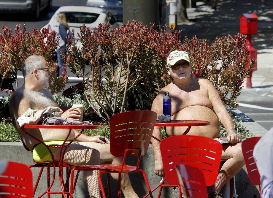 Selfie with a naked guy: Here's some only in SF fun. If the weather's decent, there's a good chance you'll find one of these fellas wandering the Castro and possibly willing to pose in a pic with you. FIND 'EM: The Buff Stop at the corner of Castro and Market is a good place to start. Photo: Brant Ward, The Chronicle